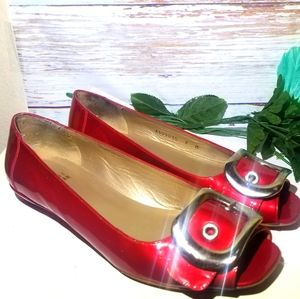Stuart weitzman shoes Red Leather Open Toe 7.5